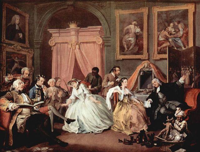 """""""Mariage à la mode"""", le levé de la comtesse."""