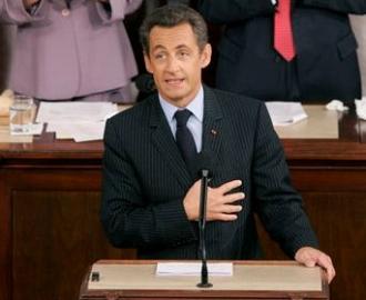 Nicolas Sarkozy au Capitole (AP)