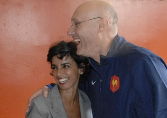 Rachida Dati et Bernard Laporte (photo d'archives) (Sipa).