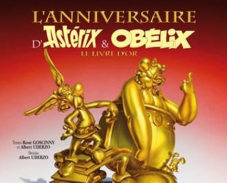 """Couverture du 34 eme album des aventures d'Astérix, """"Le Livre d'Or"""". (DR)"""