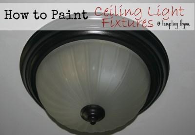Painting Hanging Light Fixtures