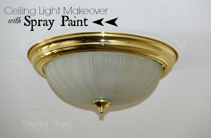 Updating even more brass light fixtures using Spray Paint     Spray painting ceiling lights