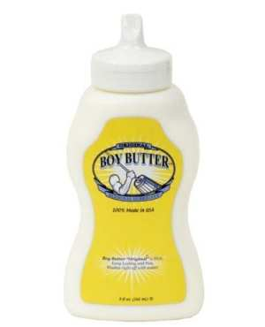 Boy Butter Churn Style  - 9 oz Squeeze Bottle