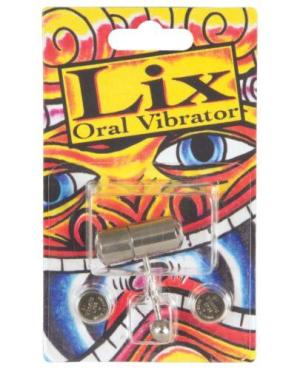Lix Oral Vibrator Tongue Ring - Chrome