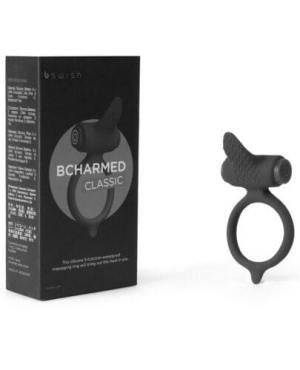 Bcharmed Classic Vibrating Cock Ring - Black