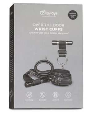Easy Toys Over The Door Wrist Cuffs - Black