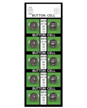 Batteries  AG10 - Card of 10