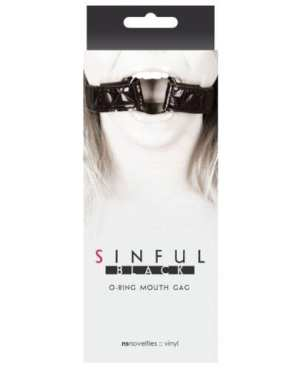 Sinful O Ring Mouth Gag - Black