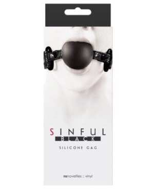 Sinful Soft Silicone Gag - Black