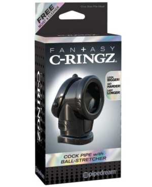 Fantasy C-Ringz Cock Pipe w/Ball Stretcher - Black