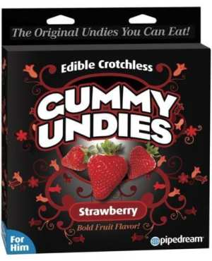 Edible Male Gummy Undies - Strawberry