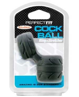 Perfect Fit SilaSkin Cock & Ball Ring - Black