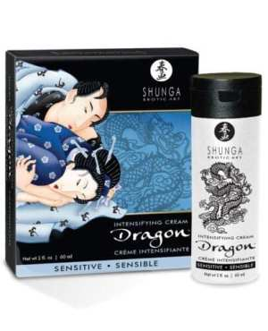 Shunga Dragon Sensitive Cream - 2 oz