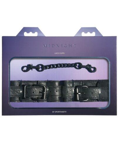 Sincerely Lace Cuffs - Black