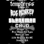 Temptress Monte Luna 20211012 The Catacombs flyer