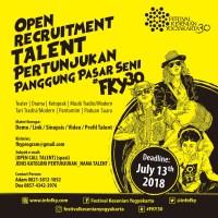 Pendaftaran Pengisi Panggung Hiburan Festival Kesenian Yogyakarta 2018