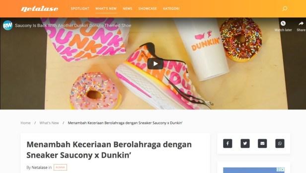 Netalase - Sneaker Saucony x Dunkin'