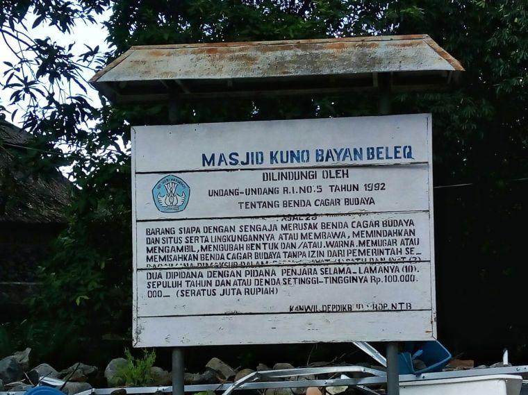 Masjid Kuno Bayan Beleq, Bayan, Lombok, NTB