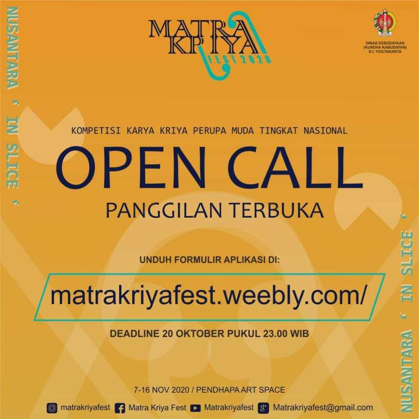 Matra Kriya Fest 2020 memperpanjang Open Call