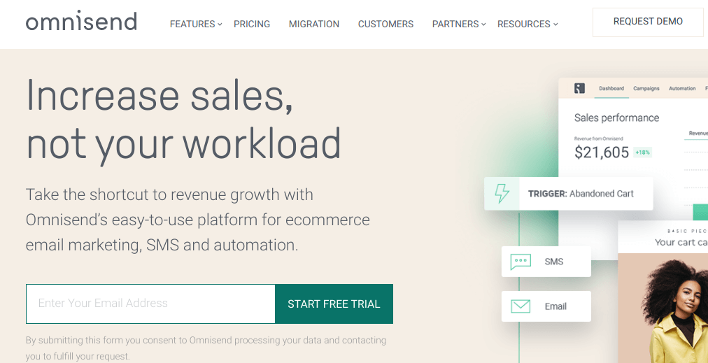 Omnisend is one of the best email marketing solutions for SMEs and eCommerce business owners.