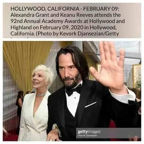 Oscar 2020 Keanu Reeves Patricia Taylor