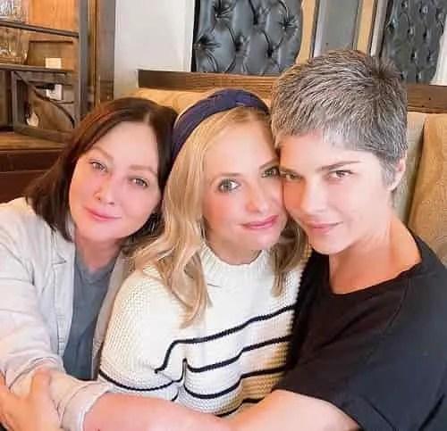 Sarah Michelle Gellar Selma Blair Shannen Doherty, foto reunion