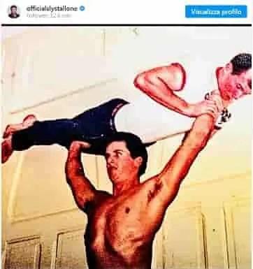 sylvester stallone foto instagram allenamento