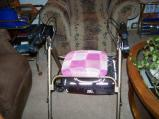 A little seat cover for Nanny's walker.