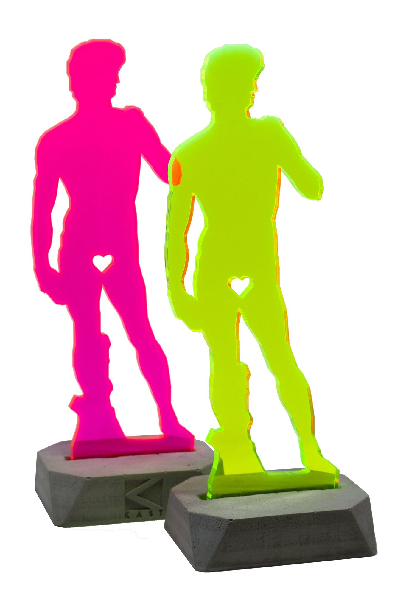 Michaelgelo's statue of David in acrylic