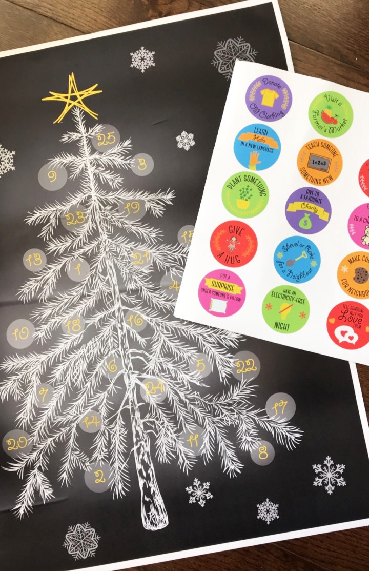 Kindness decals for each day leading to Christmas.