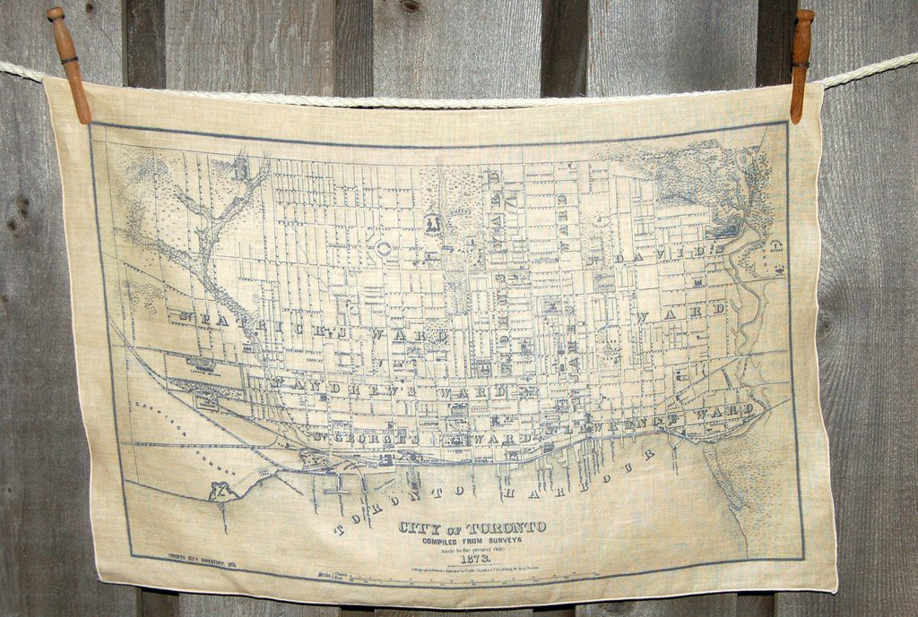 Vintage map of the city of Toronto, circa 1873.