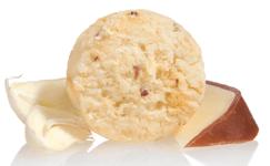 asiago and garlic shortbread