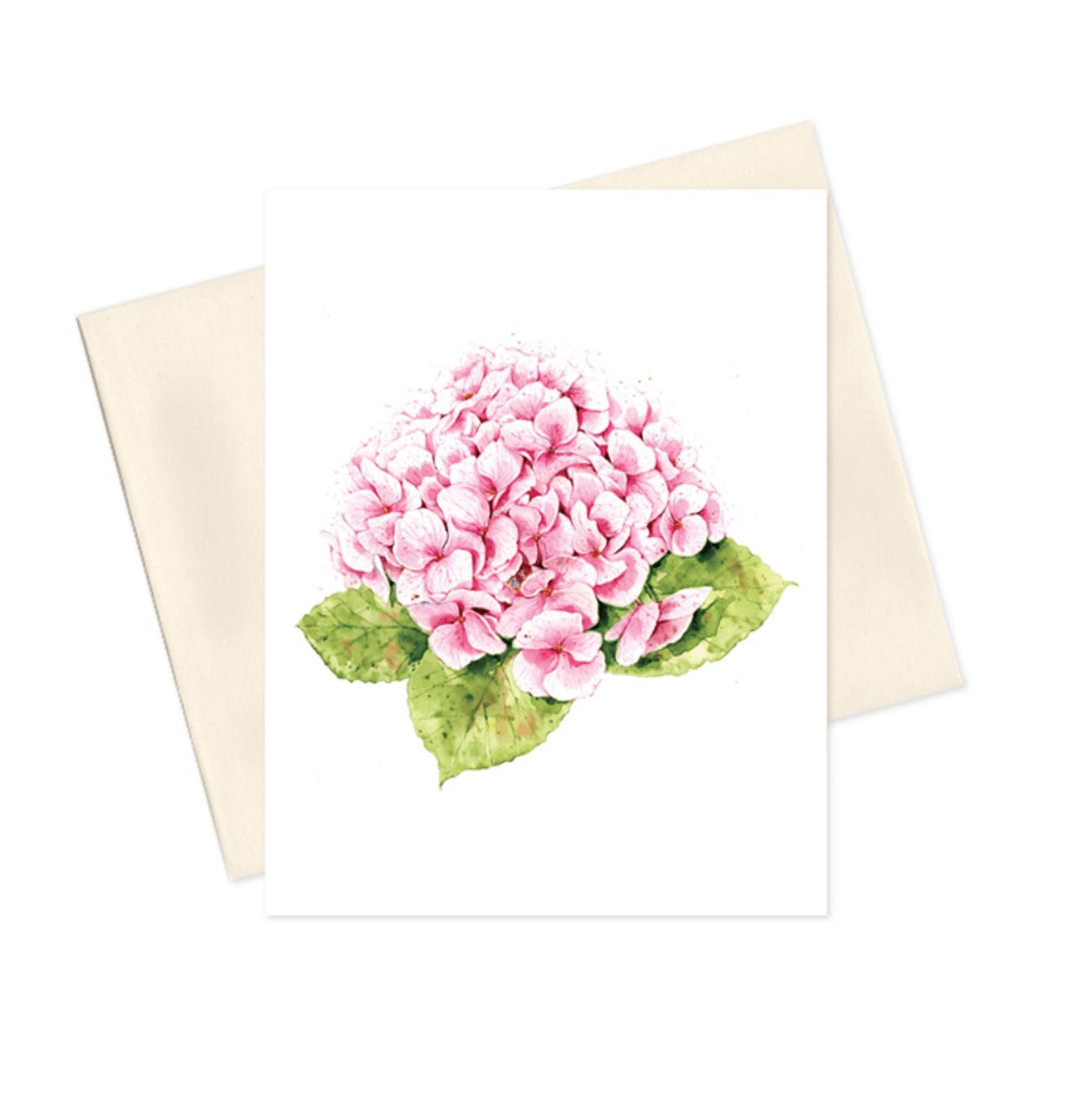 Amanda Strand's pink hydrangea greeting card