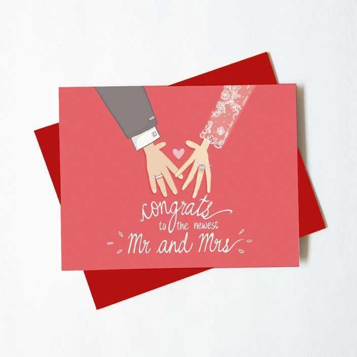 A wedding greeting card