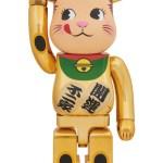 【抽選・本日迄】 BE@RBRICK 招き猫 ペコちゃん 金メッキ 1000%