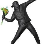 【7/20~】完全限定生産 Banksy FLOWER BOMBER(BLACK GESSO Ver.)