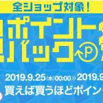 【楽天】超ポイントバック祭