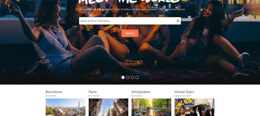 HostelWorld 青年旅館、膠囊旅館、特色民宿、廉價住宿訂房網站/背包客旅行者的最愛