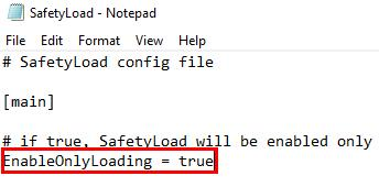 enable only loading true