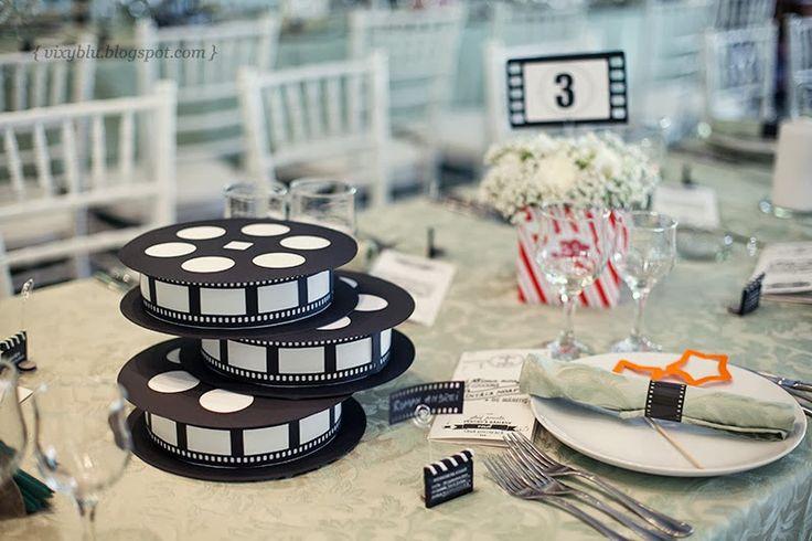 deco table mariage cinema
