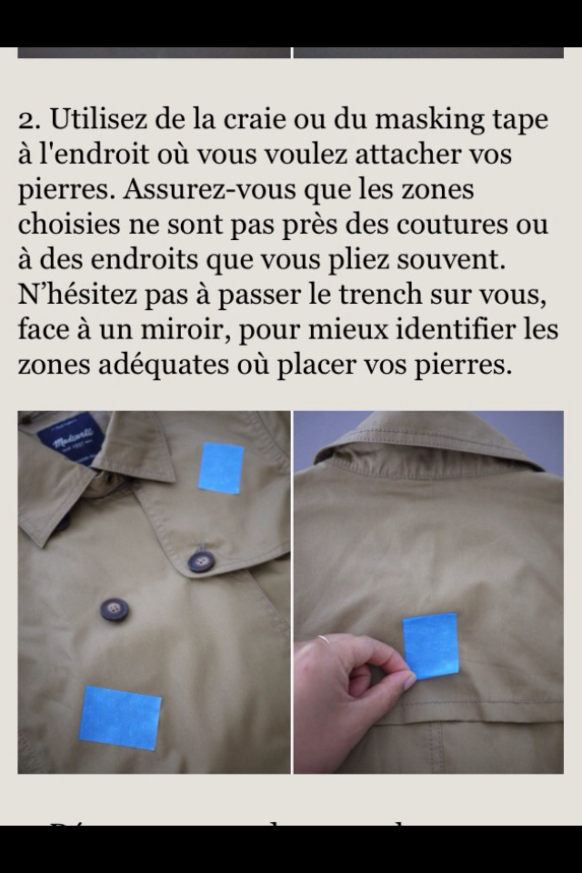 DIY trench personnalisé