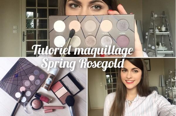 tutoriel spring rosegold yt maquillage