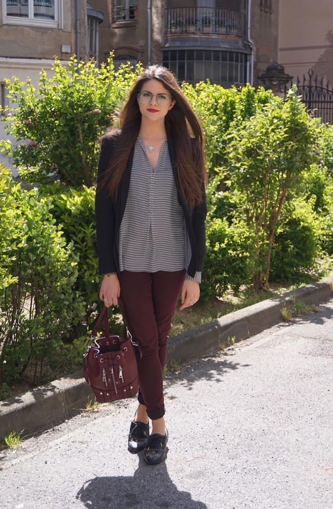 LOOK MODE DERBIES BORDEAUX BLOGUEUSE