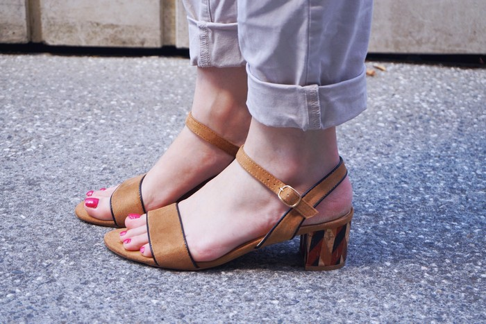 look beige zoom chaussures