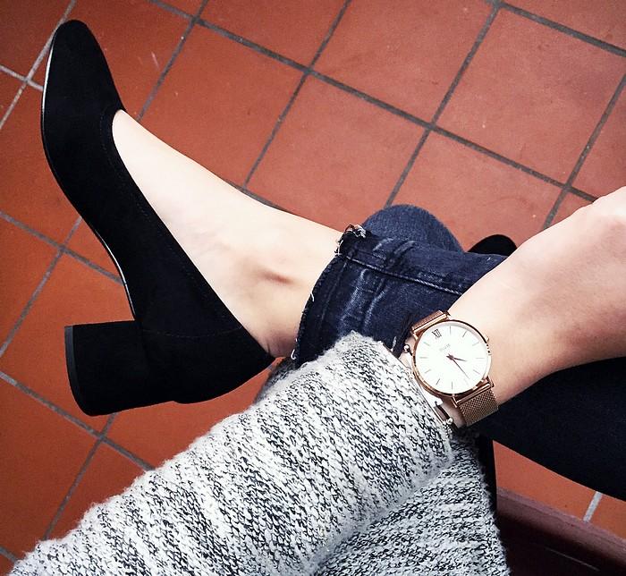 look-ballerines-talons-chaussures-montre