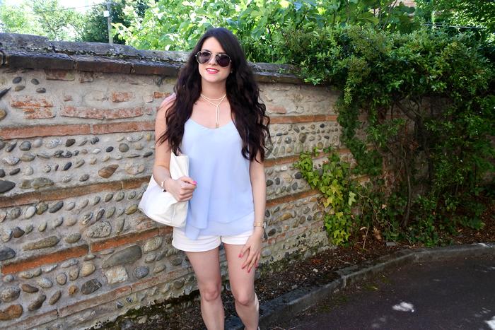 look bleu et blanc tendance clémence blog mode toulouse