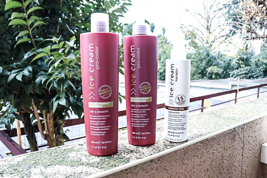 Routine capillaire avec les produits Inebrya Mon Deal Beauté