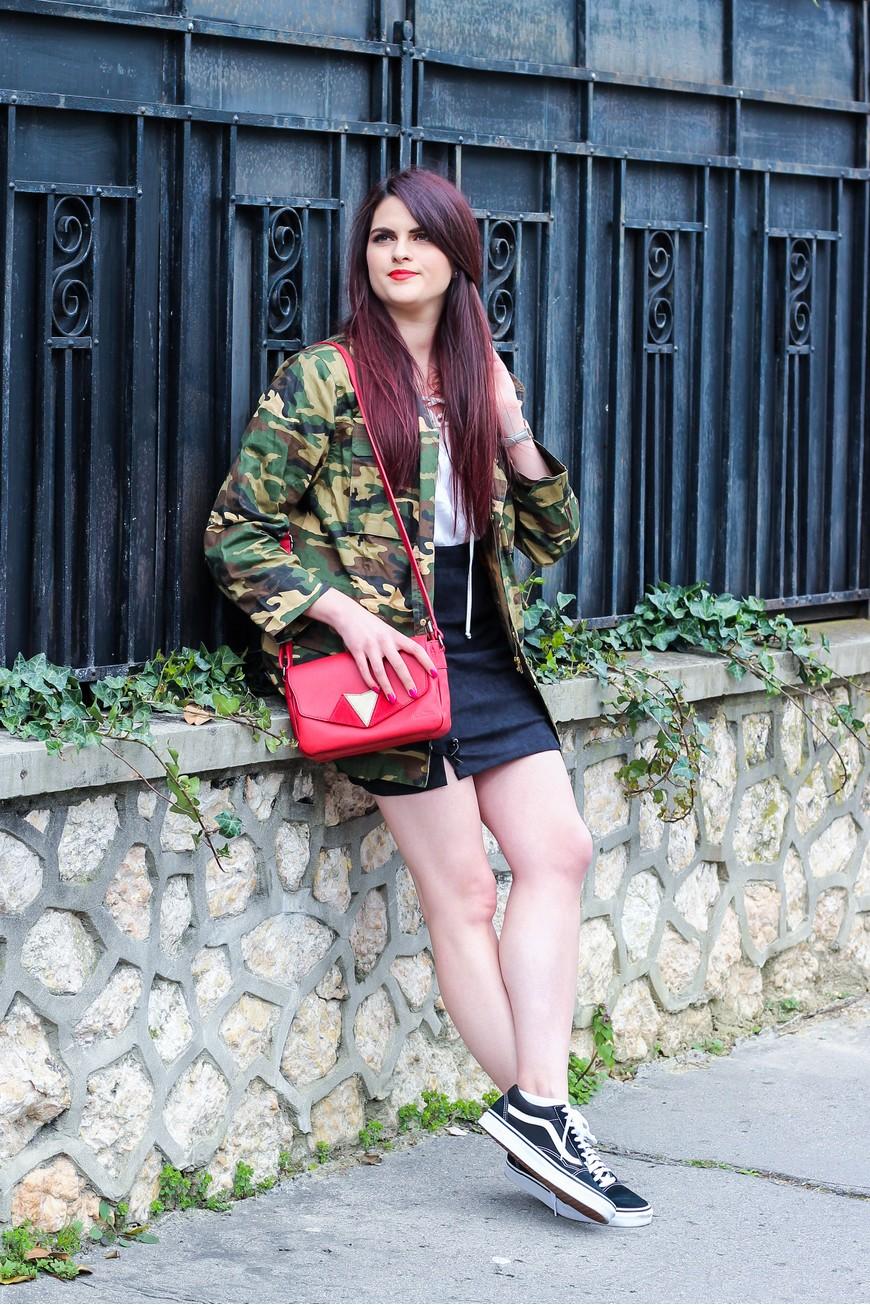 Look n°124 • La veste camouflage