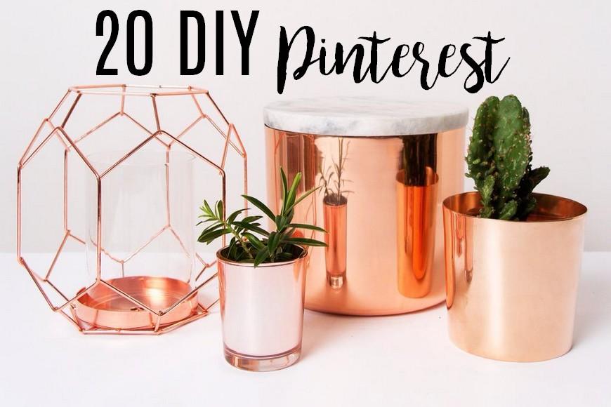 20 tutoriels Pinterest à tester chez soi