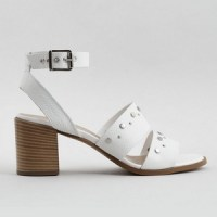 Sandales blanches cuir New Look